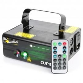 BeamZ Laser Surtur II Double RG Gobo 300mW, 1x 3W modrá LED, DMX,