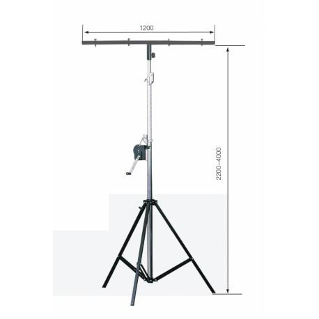 AVFX Svetelny T stativ s klikou 85kg
