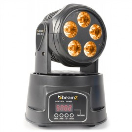 BeamZ LED moving head 5x 18W RGBW LED-UV, DMX