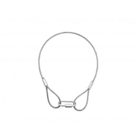 Steel rope 400x3mm silver