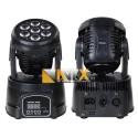 AVFX LED otocna hlavice 7x18W RGBW-UV LED, DMX