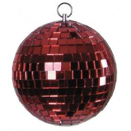 Zrcadlová koule 10cm, červená