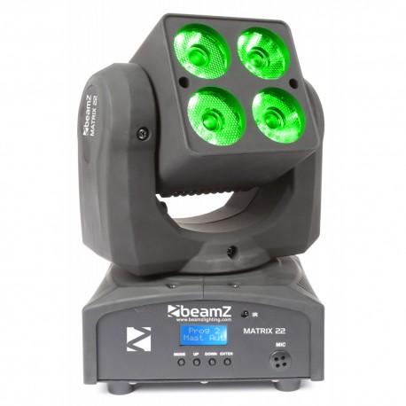 Beamz LED otočná hlavice Matrix 22, 4x 10W QCL CREE, IR, DMX