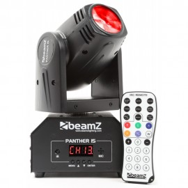 Beamz LED otočná hlavice Panther 15, 1x10 RGBW, IR, DMX