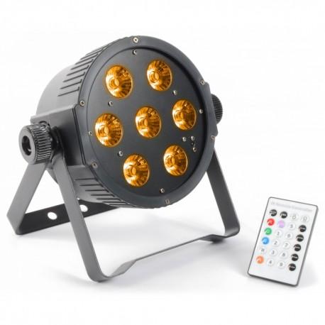 BeamZ LED FlatPAR 7x15W RGBAW IR, DMX