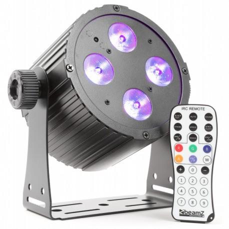 BeamZ LED FlatPAR 4x18W HCL, IR, DMX, černý