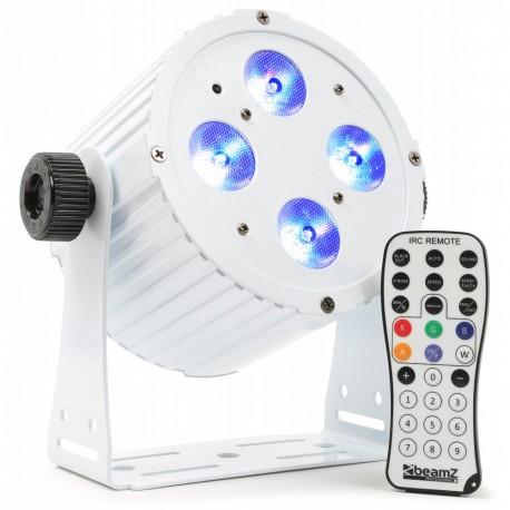BeamZ LED FlatPAR 4x18W HCL, IR, DMX, bílý