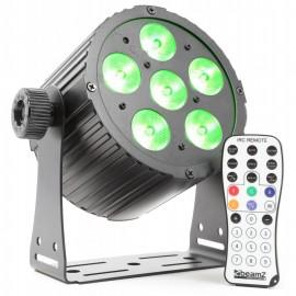 BeamZ LED FlatPAR 6x18W HCL, IR, DMX, černý
