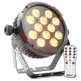 BeamZ LED FlatPAR 12x12W RGBAW+UV , IR, DMX, černý