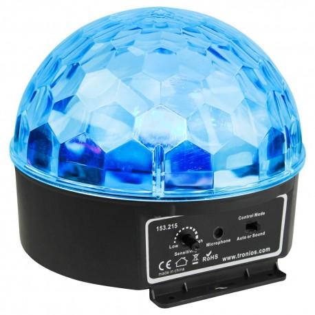 BeamZ mini Half Ball 6x 3W RGBAWP LED s IR, světelný efekt