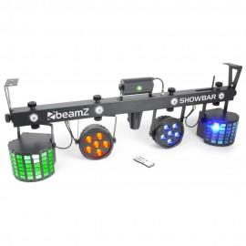 BeamZ Showbar, 2x PAR 6x QCL, 2x Butterfly, Laser R/G, DMX, IR