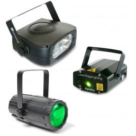BeamZ světelný set 4, laser, LED paprskový efekt a strobo