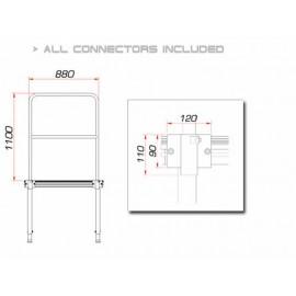 Guil TMQ-01/440 pódiové zábradlí 88cm, hliníkové