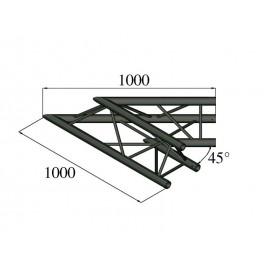 Trilock S-PAC 19 2-koncový rohový díl, 45°, černý