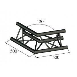 Trilock S-PAC 22 2-koncový rohový díl, 120°, černý