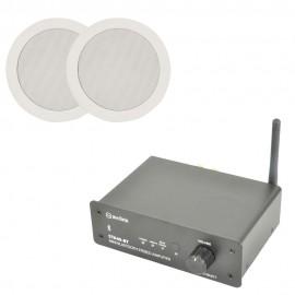 Bluetooth zesilovač se 2 podhledovými reproduktory