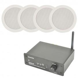 Bluetooth zesilovač se 4 podhledovými reproduktory