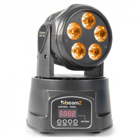 BeamZ LED moving head 5x 18W RGBW LED-UV, DMX