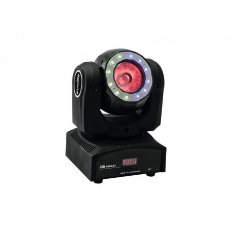 LED TMH-51 otočná hlavice Beam, 1x60W QCL,12x SMD RGB, DMX