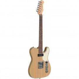 Stagg SET-CST YW, elektrická kytara, transparentní žlutá