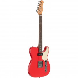 Stagg SET-CST FRD, elektrická kytara, červená