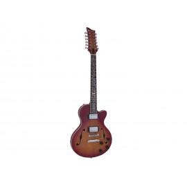Dimavery LP-612, semiakustická 12-ti strunná kytara, sunburst