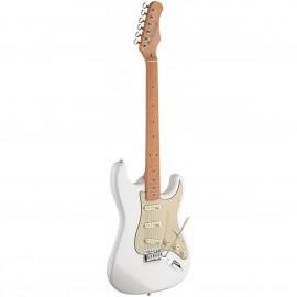 Stagg SES50M-CWH, elektrická kytara, bílá