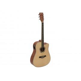 Dimavery DR-520, elektroakustická kytara typu Dreadnought, přírodní