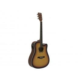 Dimavery DR-520, elektroakustická kytara typu Dreadnought, sunburst