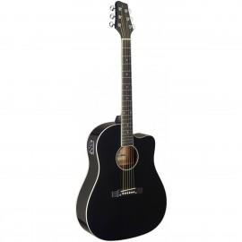 Stagg SA35 DSCE-BK, elektroakustická kytara typu Slope Shoulder Dreadnought
