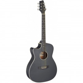 Stagg SA35 ACE-BK LH, elektroakustická kytara typu Auditorium, levoruká