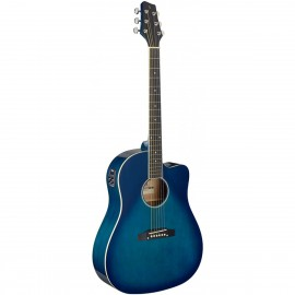 Stagg SA35 DSCE-TB, elektroakustická kytara typu Slope Shoulder Dreadnought
