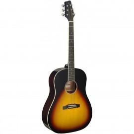 Stagg SA35 DS-VS LH, akustická kytara typu Slope Shoulder Dreadnought, levoruká