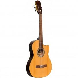 Stagg SCL60 TCE-NAT, elektroakustická klasická kytara 4/4, přírodní
