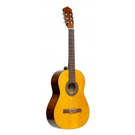 Stagg SCL50 NAT PACK, klasická kytara 4/4 s pouzdrem a ladičkou, přírodní