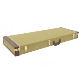 Dimavery dřevěný kufr pro el. kytaru, vzor tweed