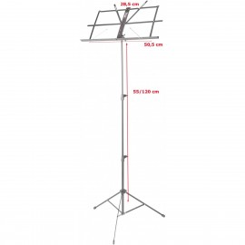 Stagg MUS-A25 BK, stojánek na noty