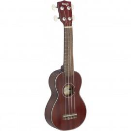 Stagg US40-S, sopránové ukulele, polomasivní mahagon
