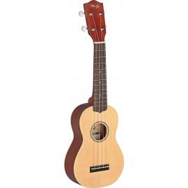 Stagg US60-S, sopránové ukulele, masivní smrk/mahagon
