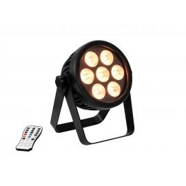 Eurolite LED 4C-7 Silent Slim reflektor, 7x 8W HCL LED, DMX