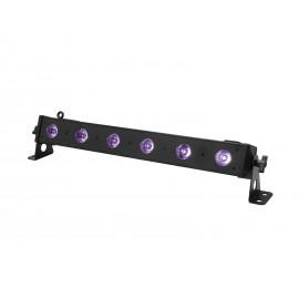 Eurolite LED BAR-6 UV světelná lišta, 6x 1W UV LED