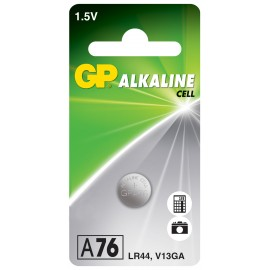 GP baterie LR44 (A76) 1.5V alkalická, 125mAh