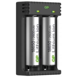 GP baterie 18650 2ks + nabíječka, Li-Ion, 2600mAh