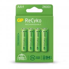 GP dobíjecí baterie AA, 2600mAh, 4ks