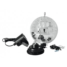 Set LED zrcadlová koule 20 cm, 6000K