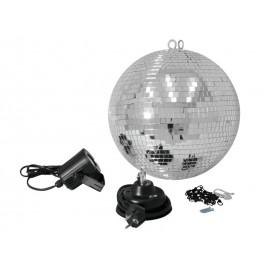 Set LED zrcadlová koule 30 cm, 6000K