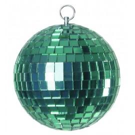 Zrcadlová koule 10cm, zelená