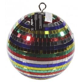 Zrcadlová koule barevná 20cm v barevném kartonu