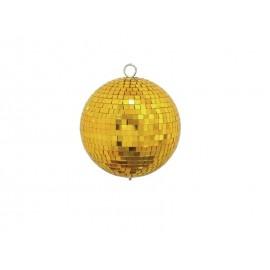Zrcadlová koule 15 cm, zlatá
