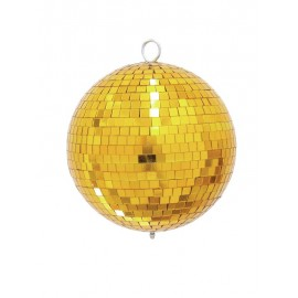 Zrcadlová koule 20 cm, zlatá